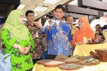 Menteri Perindustrian Airlangga Hartarto saat membuka Pameran Industri Farmasi, Kosmetik dan Jamu di Plasa Pameran Industri (Foto: Kemenperin)