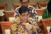 Menteri Perindustrian Airlangga Hartarto bersama Komisi VI DPR RI membahas pagu indikatif Kementerian Perindustrian tahun 2019, di Jakarta, Rabu (11/7).