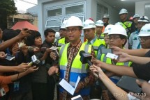 Gubernur DKI Jakarta Anies Baswedan saat meresmikan Gardu Distribusi Listrik (Receiving Substation/RSS) bawah tanah MRT Jakarta (Foto: Ridwan/Industry.co.id)