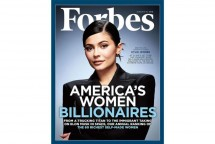 Kylie Jenner menjadi cover isu majalah Forbes, dan dinobatkan menjadi wanita terkaya. (Foto: Forbes)