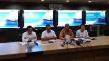 Dirut PLN Sofyan Basir beserta manajamen menggelar konferensi pers perihal kasus PLTU Riau 1, Senin (16/7/2018) (Dok: INDUSTRY.co.id)