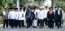 Presiden Jokowi dan Alim Ulama (Foto Setkab)