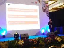 General Manager of Franchise PT Lion Super Indo, Eric Rinaldo Syah dalam pameran IFRA 2018, di JCC Senayan