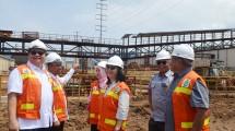 Menteri Perindustrian Airlangga Hartarto Ketika Kunjungan Kerja Meninjau Kawasan Industri Morowali di Sulawesi Tengah