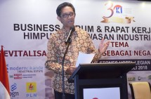 Plt. Dirjen Pengembangan Perwilayahan Industri (PPI) Kementerian Perindustrian I Gusti Putu Suryawirawan dalam sambutannya pada acara Rakernas XIX HKI di Bali