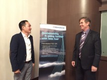 Jeff James, Business Director AkzoNobel Marine & Protective Coatings Southest Asia, saat menghadiri acara media briefing di Swiss-Belinn Kemayoran, Jakarta. (Dina Astria/Industry.co.id)