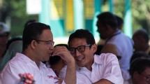 Pasangan calon gubernur dan calon wakil gubernur Anies Baswedan dan Sandiaga Uno. (Donal Husni/NurPhoto)
