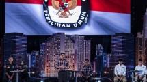 Debat calon Gubernur dan Wakil Gubernur pertama Jumat (13/1/2017). Debat ini mengangkat tema pembangunan sosial ekonomi untuk Jakarta. (M Agung Rajasa/Antara)
