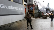 Tambang Freeport Grasberg di Provinsi Papua, Indonesia. (Dadang Tri/Bloomberg via Getty Images)
