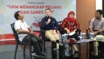 Forum Group Discussion UKM Menangkap Peluang Asian Games di gedung Smesco , Rabu (15/8/2018)