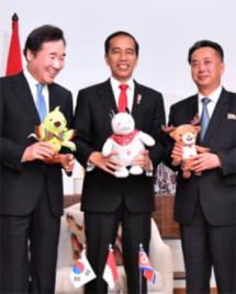 Presiden Jokowi dan Pimpinan Korea Utara dan Korea Selatan (Foto Setkab)