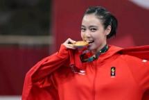 Atlet Wushu Indonesia, Lindswell Kwok Raih Medali Emas di Ajang Asian Games 2018