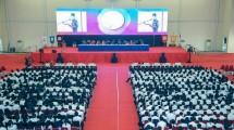 Penyambutan mahasiswa baru President University angkatan tahun 2018
