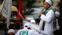 Ilustrasi demonstrasi FPI. (Donal Husni/NurPhoto)