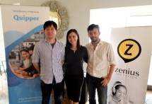 Kiri-Kanan (Takuya Homma selaku Founding Member Quipper Indonesia, Founder Zenius Education, Sabda PS, dan Talitha Founder Solve Education)
