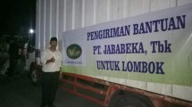 Jababeka Infrastruktur bersama tenant kirim bantuan untuk Lombok