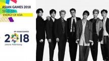 Boyband asal Korea Selatan Super Junior (Suju) turut ambil bagian dalam closing ceremony Asian Games 2018