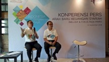 Kiri-Kanan (Direktur Pembiayaan Syariah LPDB KUMKM Jaenal Aripin, dan Dirut LPDB KUMKM Braman Setyo (INDUSTRY.co.id)