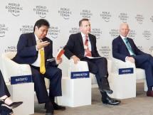 Menteri Perindustrian Airlangga Hartarto menjadi salah satu narasumber pada diskusi panel World Economic Forum (WEF) on Asean di Hanoi, Vietnam