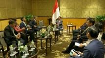 Pertemuan antara Presiden Indonesia, Joko Widodo, dengan Presiden Cisco ASEAN, Naveen Menon, dan Managing Director Cisco Indonesia, Marina Kacaribu