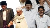 Pasangan Joko Widodo-KH. Ma`ruf Amin mendapatkan nomor urut 1 dalam Pemilu Presiden 2019. Dengan demikian, pasangan Prabowo Subianto dan Sandiaga S Uno memperoleh nomor urut 2.