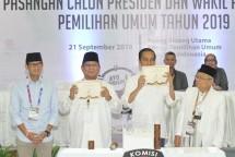Presiden Jokowi dan Prabowo Subianto (Foto Dok KPU)