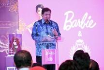Menteri Perindustrian Airlangga Hartarto saat menghadiri 25th Anniversary Mattel Indonesia (Foto: Kemenperin)