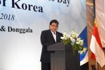 Menteri Perindustrian Airlangga Hartarto ketika mewakili Pemerintah Indonesia pada National Day & Armed Forces Republic of Korea di Jakarta (Foto: Kemenperin)