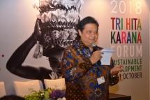 Menteri Perindustrian Airlangga Hartarto saat menjadi pembicara pada Forum Tri Hita Karana (Foto: Kemenperin)