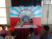 Kiri ke Kanan: Kepala Divisi Pemasaran LLP KUMKM Marianne Sumaksud, dan Direktur Bisnis dan Pemasaran LLP KUMKM, Armel Arifin, di Gedung Smesco dalam konferensi pers Smesco Music Expo 2018 Jumat (19/10/2018)