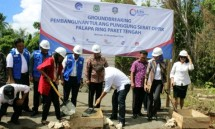 Direktur Utama PT Len Industri (Persero) Zakky Gamal Yasin saat Groundbreaking Proyek Palapa Ring Paket Tengah pada 2016