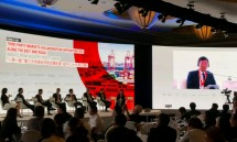 Chairman dan Founder Jababeka Group, Dr. S.D. Darmono saat menjadi panelis dalam forum Singapore China BRI Investment Forum 2018 (Foto: Industry.co.id)