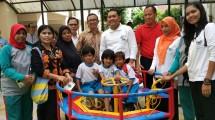 Jababeka Infrastruktur mendirikan Taman Bermain Anak di Rusun Pinus Elok Blok A, Komplek Taman Pulo Indah, Jakarta Timur