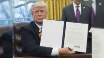 Donald Trump Keluarkan Perintah Eksekutif, AS Keluar dari TPP (SAUL LOEB / AFP)