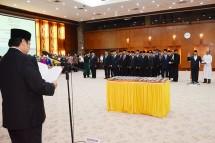 Menteri Perindustrian Airlangga Hartarto melantik sejumlah Irjen dan 38 Pejabat Eselon II (Foto: Kemeneprin)