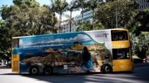 Kemenpar branding Wonderful Indonesia melalui bus double decker jurusan City-Mona Vale Sydney.