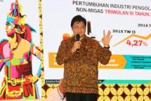 Menteri Perindustrian Airlangga Hartarto saat menjadi narasumber Rapimnas Kadin 2018 (Foto: Kemenperin)