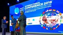 Chief Minister of Melaka, Adly Zahari membuka acara Konferensi Internasional World Zakat Forum (WZF) 2018 di Hotel Equator, Melaka, Malaysia.