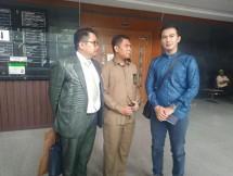 Artis sekaligus calon anggota legislatif DPR RI dari Fraksi PAN, Mandala Abadi mengajukan eksepsi atau nota pembelaan atas dakwaan dugaan pelanggaran kampanye ke PN Jakpus, Rabu (12/12/2018)