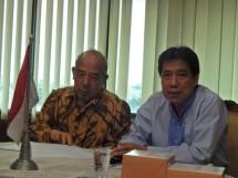 Direktur Independen PT Metro Realty Tbk, Sukardi, (kanan) bersama Direktur, Arif Tamin, (kiri) (Foto Abe)