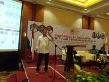 Menteri Kominfo Rudi Antara saat membuka Rakornas dan Lokakarya Perkumpulan Gerakan Kebangsaan