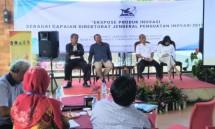 Ekpose produk inovasi Direktorat Jenderal Penguatan Inovasi Kemristekdikti, di Puncak, Bogor, Selasa (18/12)