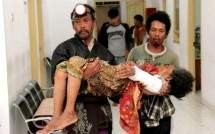 Salah satu korban Tsunami Tanjung Lesung yang berhasil di evakuasi