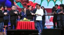 Presiden Jokowi bersama CEO Bukalapak Ahmad Zaky saat perayaan HUT ke-9 Bukalapak