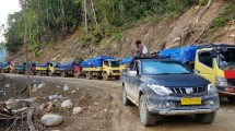 Kondisi Jalan Trans Papua Ruas Jayapura-Wamena