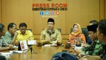 Konferensi Pers Kementerian Koperasi dan UKM dalam menyambut Harkopnas 2019, Jumat (17/1/2019)