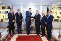 Ketua DPR RI, Bambang Soesatyo saat menerima Duta Besar Jerman untuk Indonesia, H.E. Mr. Peter Schoof