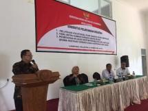 Deputi Bidang Restrukturisasi Usaha Kemenkop dan UKM Abdul Kadir Damanik dalam kegiatan Bimbingan Teknik Pembedayaan UMK, sekaligus sosialisasi Petuntuk Teknis Bantuan Pemerintah di Mataram, NTB.