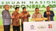 Menteri Perindustrian Airlangga Hartarto pada Pertemuan Nasional Sawit Indonesia Tahun 2017 di Jakarta, Kamis(01/02/2017)