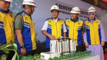 Ground Breaking Rusun Tingkat Tinggi Paspampres di Markas Komando Paspampres